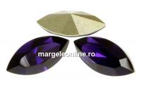 Swarovski navette, fancy chaton, purple velvet, 10mm - x4