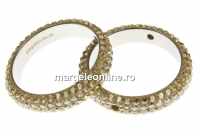 Swarovski, pave ring, golden shadow, 18.5mm - x1