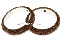 Swarovski, pave ring, smoked topaz, 18.5mm - x1