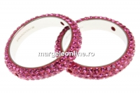 Swarovski, pave ring, rose, 18.5mm - x1