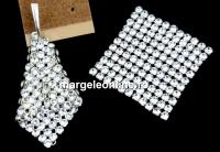 Swarovski Crystal mesh, crystal, 3.2x3.2cm - x1