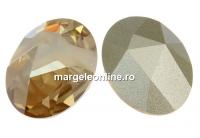 Swarovski, fancy cabochon kaputt oval, golden shadow, 23x18mm - x1