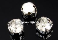 Swarovski, chaton montees crystal, 4mm - x20