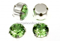 Swarovski, chaton montees peridot, 6mm - x10