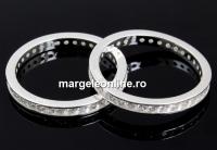 Inel pave argint 925, masiv, crystale Swarovski, 18.7mm - x1