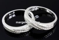 Inel pave twist argint 925, crystale Swarovski, 17.3mm - x1