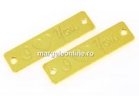 Link gravat din argint 925 placat cu aur, I love you, 19x5mm - x1