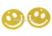 Pandantiv smiley argint 925 placat cu aur, 15mm  - x1