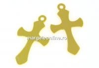 Pandantiv cruce, argint 925 placat cu aur, 19mm - x1