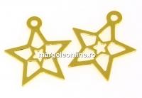 Pandantiv stea, argint 925 placat cu aur, 15mm - x1