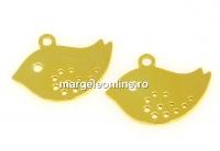 Pandantiv pasarica dragalasa argint 925 placat aur, 14mm  - x1