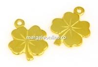 Pandantiv trifoi, argint 925 placat aur, 12x10mm - x1