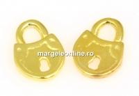 Charm lacatel, argint 925 placat aur, 9.5x7mm - x2