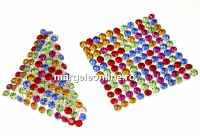 Swarovski Crystal mesh, rainbow multicolor, 3.2x3.2cm - x1