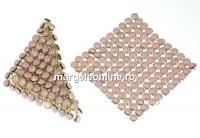 Swarovski Crystal mesh, rose water opal, 3.2x3.2cm - x1