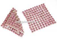 Swarovski Crystal mesh, light rose, 3.2x3.2cm - x1