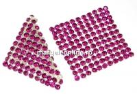 Swarovski Crystal mesh, fuchsia, 3.2x3.2cm - x1