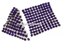 Swarovski Crystal mesh, purple velvet, 3.2x3.2cm - x1