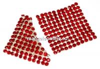 Swarovski Crystal mesh, light siam, 3.2x3.2cm - x1