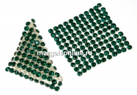 Swarovski Crystal mesh, emerald, 3.2x3.2cm - x1