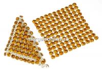 Swarovski Crystal mesh, topaz, 3.2x3.2cm - x1