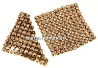 Swarovski Crystal mesh, rose gold, 3.2x3.2cm - x1
