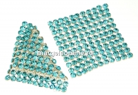 Swarovski Crystal mesh, light turquoise, 3.2x3.2cm - x1