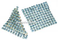 Swarovski Crystal mesh, aquamarine, 3.2x3.2cm - x1