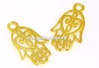 Pandantiv Mana lui Fatima, argint 925 placat cu aur, 20mm - x1