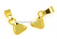 Baza pandantiv,  argint 925 placat cu aur, cub 8mm - x1