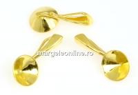 Baza pandantiv argint 925 placat cu aur, chaton 7mm - x1