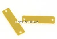 Link pentru gravat, argint 925 placat cu aur, 19x5mm - x1