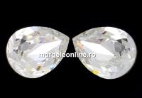 Swarovski, fancy picatura, crystal, 8x6mm - x2