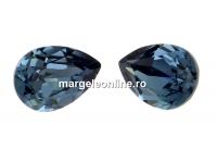Swarovski, fancy picatura, denim blue, 8x6mm - x2
