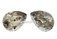 Swarovski, fancy picatura, silver patina, 14x10mm - x1