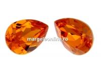 Swarovski, fancy picatura, tangerine, 14x10mm - x1