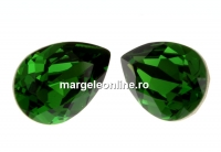 Swarovski, fancy picatura, dark moss green, 14x10mm - x1