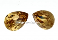 Swarovski, fancy picatura, light colorado topaz, 14x10mm - x1