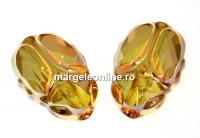 Swarovski, margele Scarab metallic sunshine, 12mm - x1
