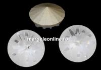 Swarovski, fancy rivoli Sea urchin, crystal, 14mm - x1