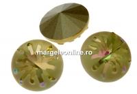 Swarovski, fancy rivoli Sea urchin, luminous green, 14mm - x1