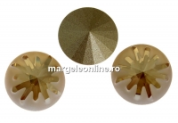 Swarovski, fancy rivoli Sea urchin, golden shadow, 10mm - x1