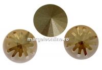 Swarovski, fancy rivoli Sea urchin, golden shadow, 14mm - x1