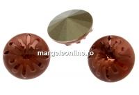 Swarovski, fancy rivoli Sea urchin, blush rose, 14mm - x1