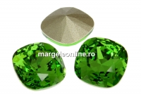 Swarovski, fancy square, fern green, 10mm - x1