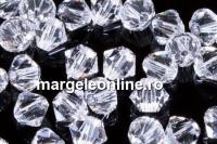 Swarovski, margele bicone, crystal clear, 2.5mm - x20