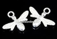 Pandantiv albinuta argint 925, 15mm  - x1