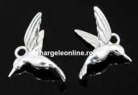 Pandantiv colibri argint 925, 15mm  - x1