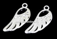 Pandantiv aripa cu cristale argint 925, 20mm  - x1