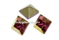 Swarovski, fancy chaton Square, lilac shadow, 6mm - x6
